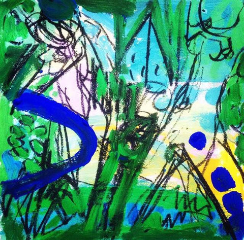 Simon Crawford - Green thoughts - Figures in Landscape