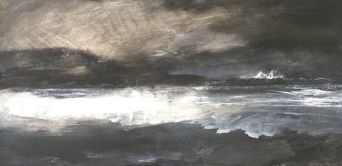 David Baumforth - The North Sea, Filey Brigg