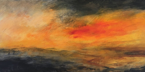 David Baumforth - Moorland sunset in spring above the hole of horcum