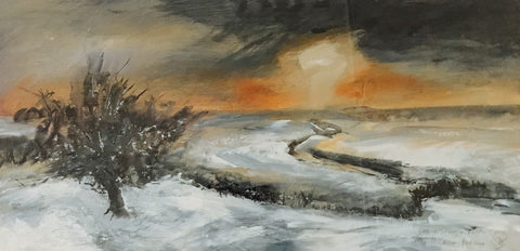 David Baumforth - Late afternoon in winter the Hole of Horcum