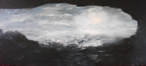 David Baumforth - The North Sea, painted from a Cave at Flamborough, March Morning
