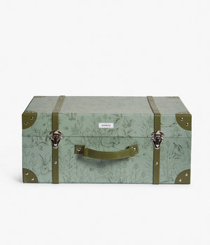 Green forest animals print trunk