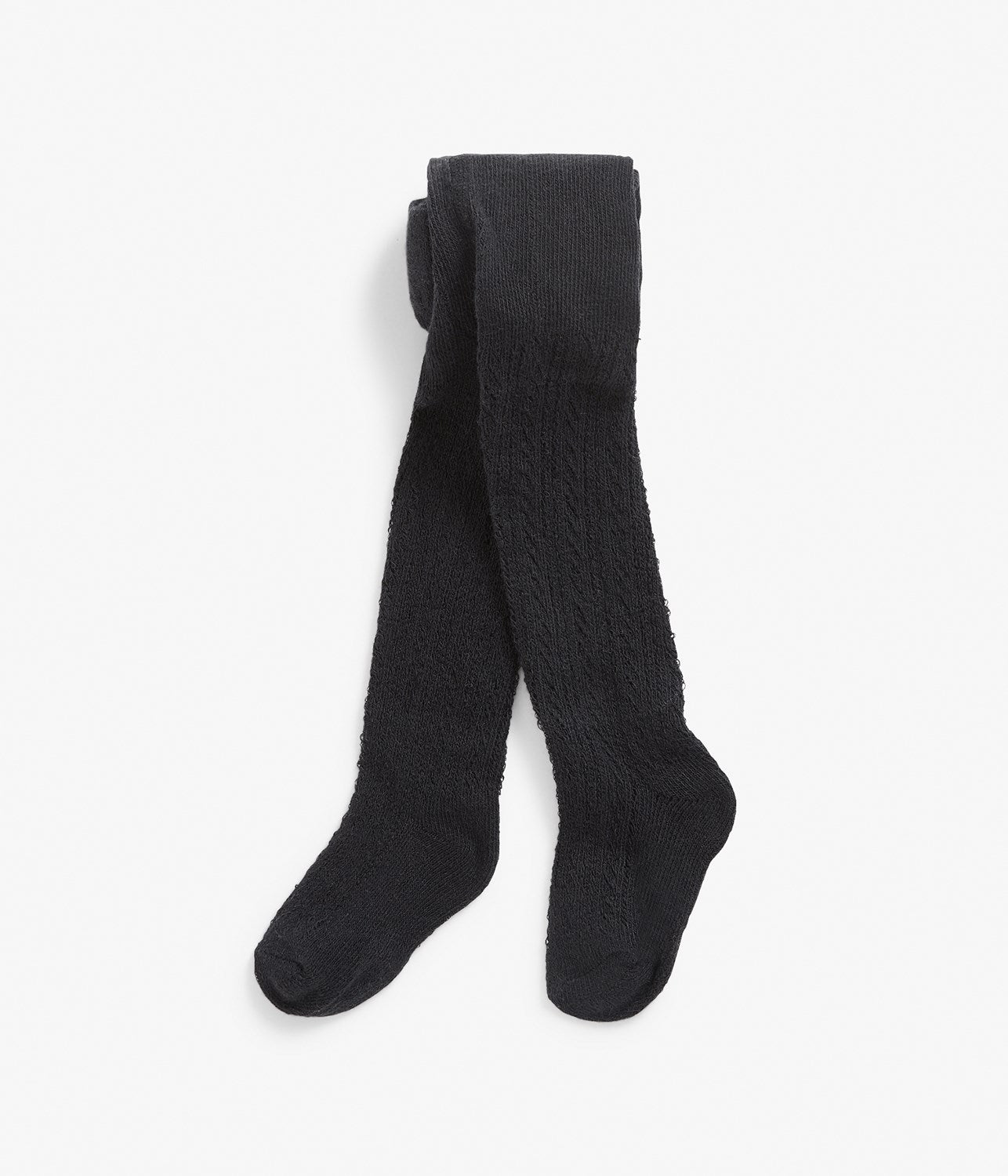 Baby black knitted tights