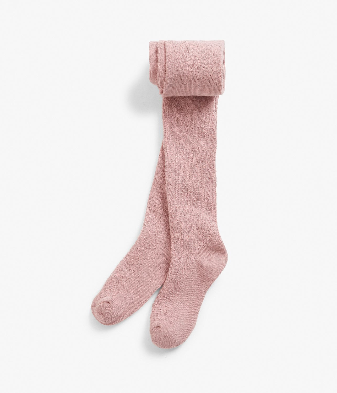 Kids pink knitted socks