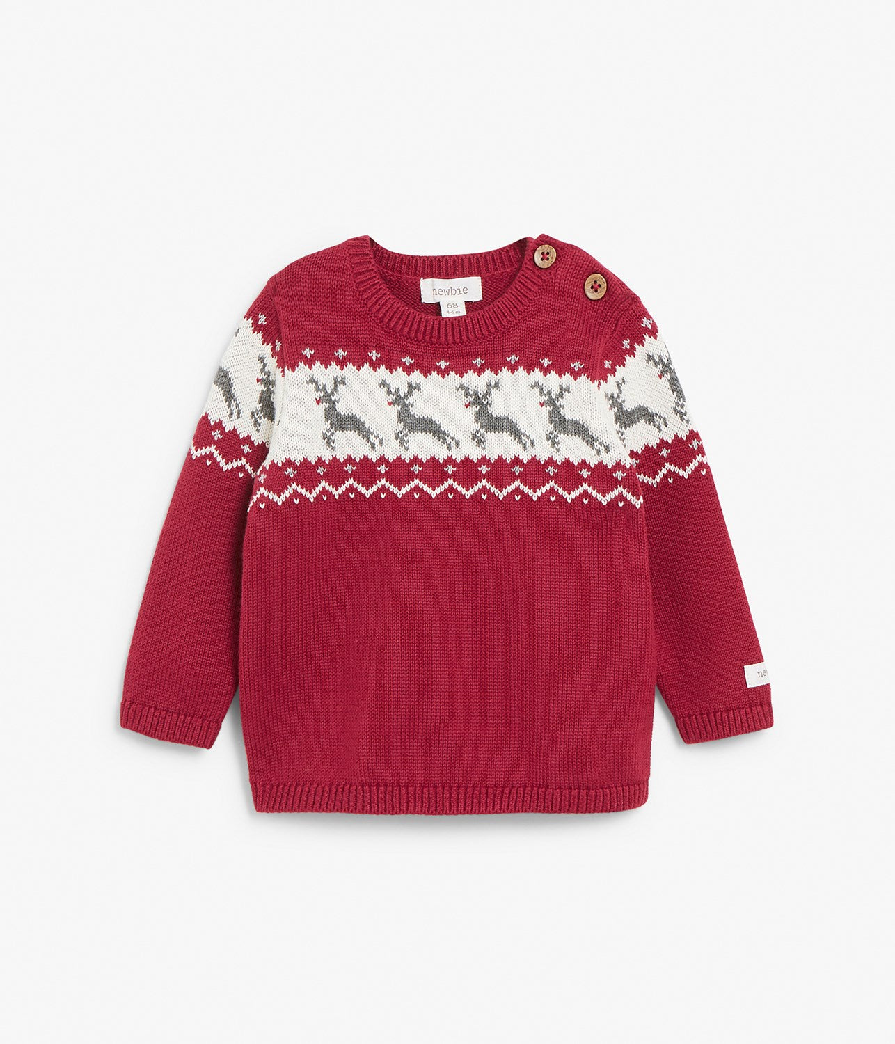 Baby red Rudolf knitted sweater