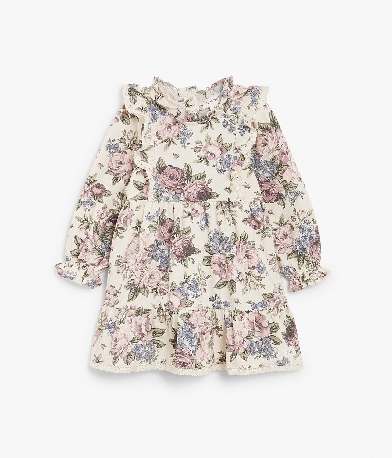 Baby lilac floral dress with frills