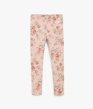 Kids pink floral print leggings