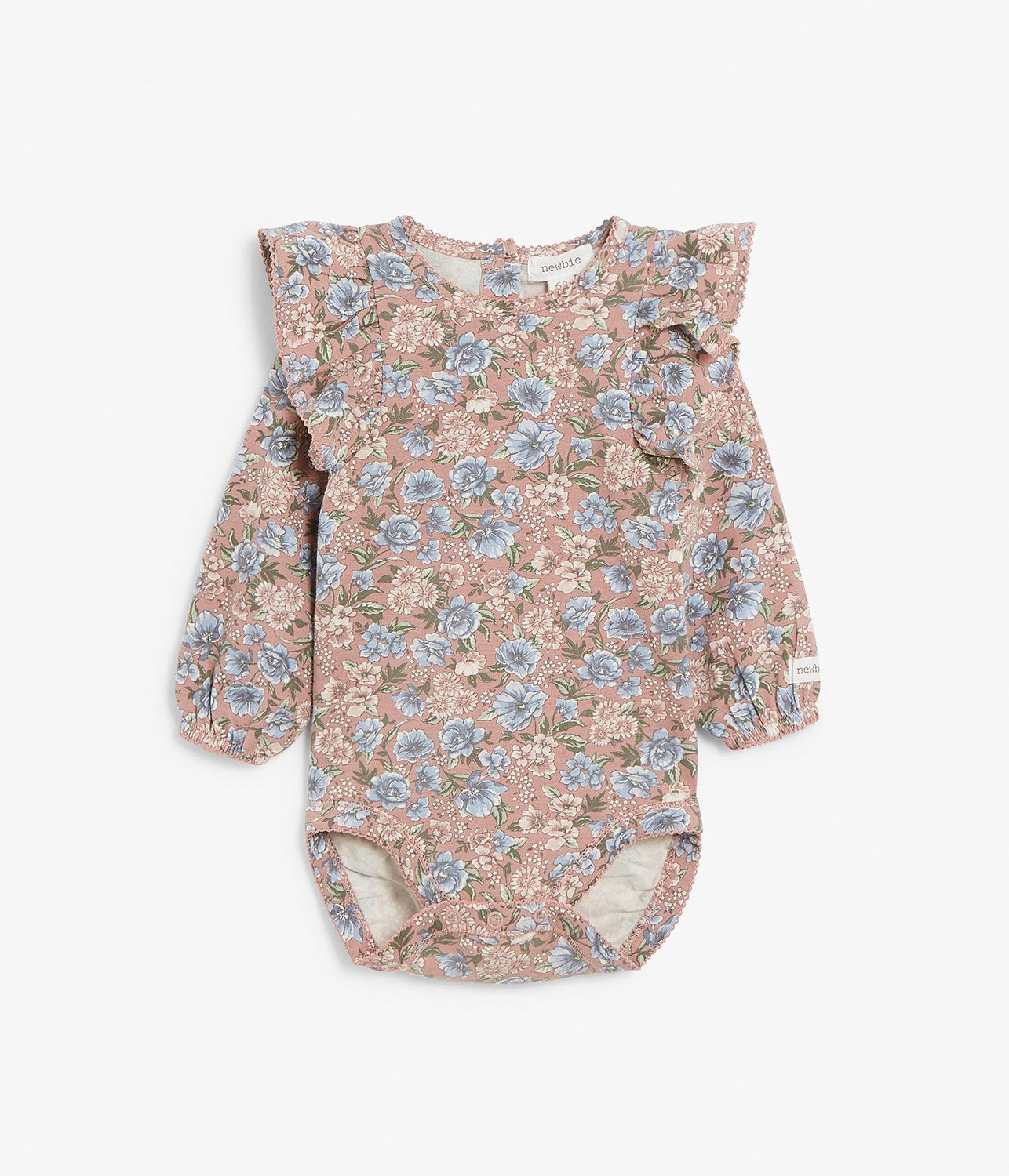 Baby floral print body with frill