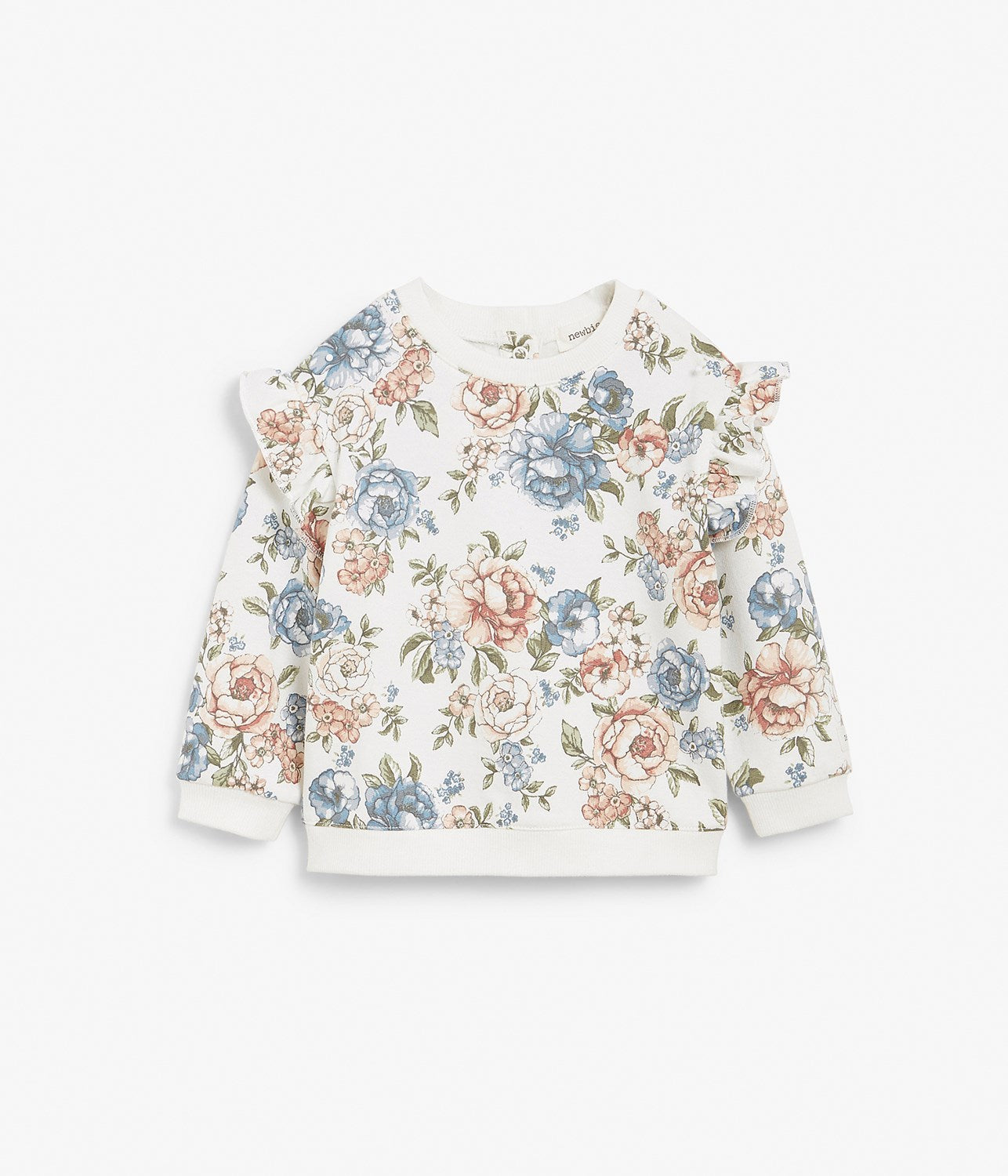 Baby white floral print jumper