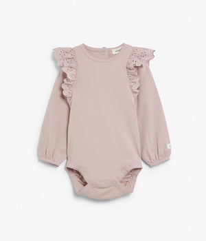 Baby pink body with frill collar