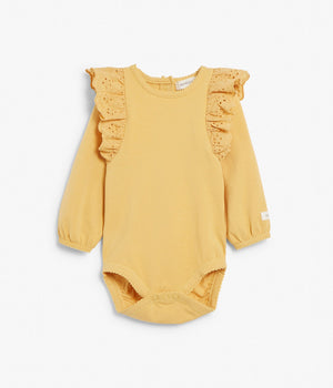Baby yellow body with frills