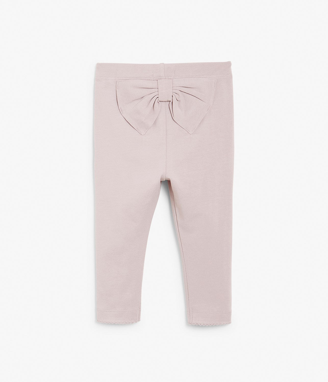 Baby pink leggings with bow