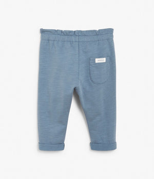 Baby blue jogging trousers