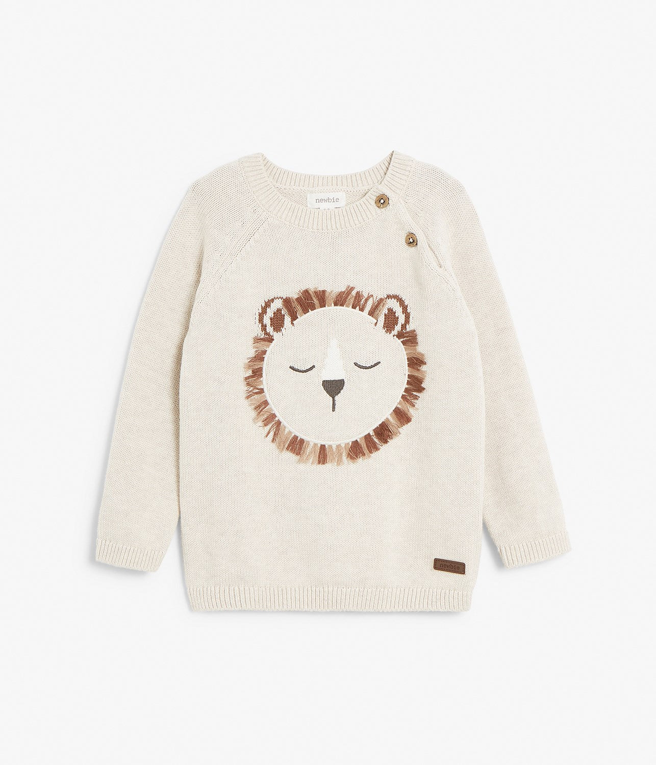 Kids beige knitted sweater