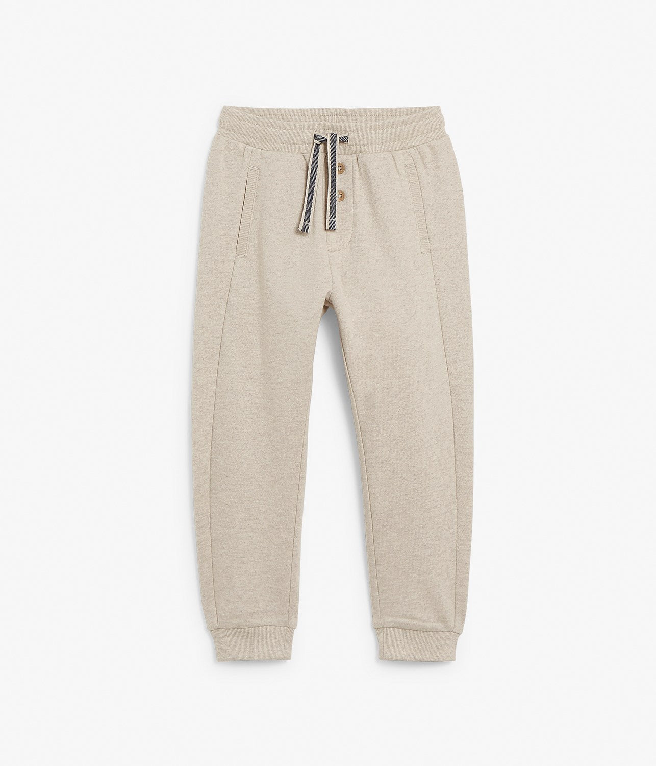 Kids beige drawstring sweatpants