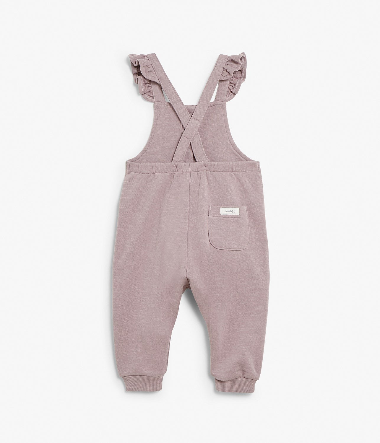 Baby purple dungarees with braces