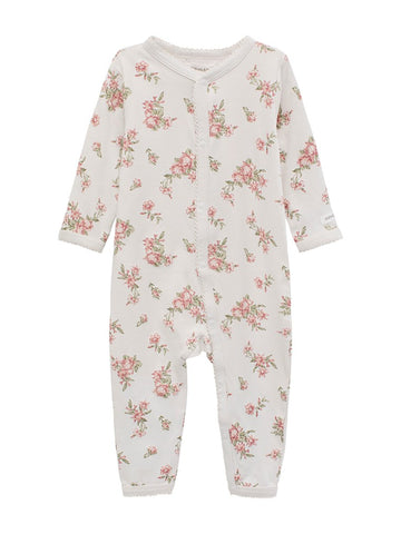 Sleepsuit with floral print