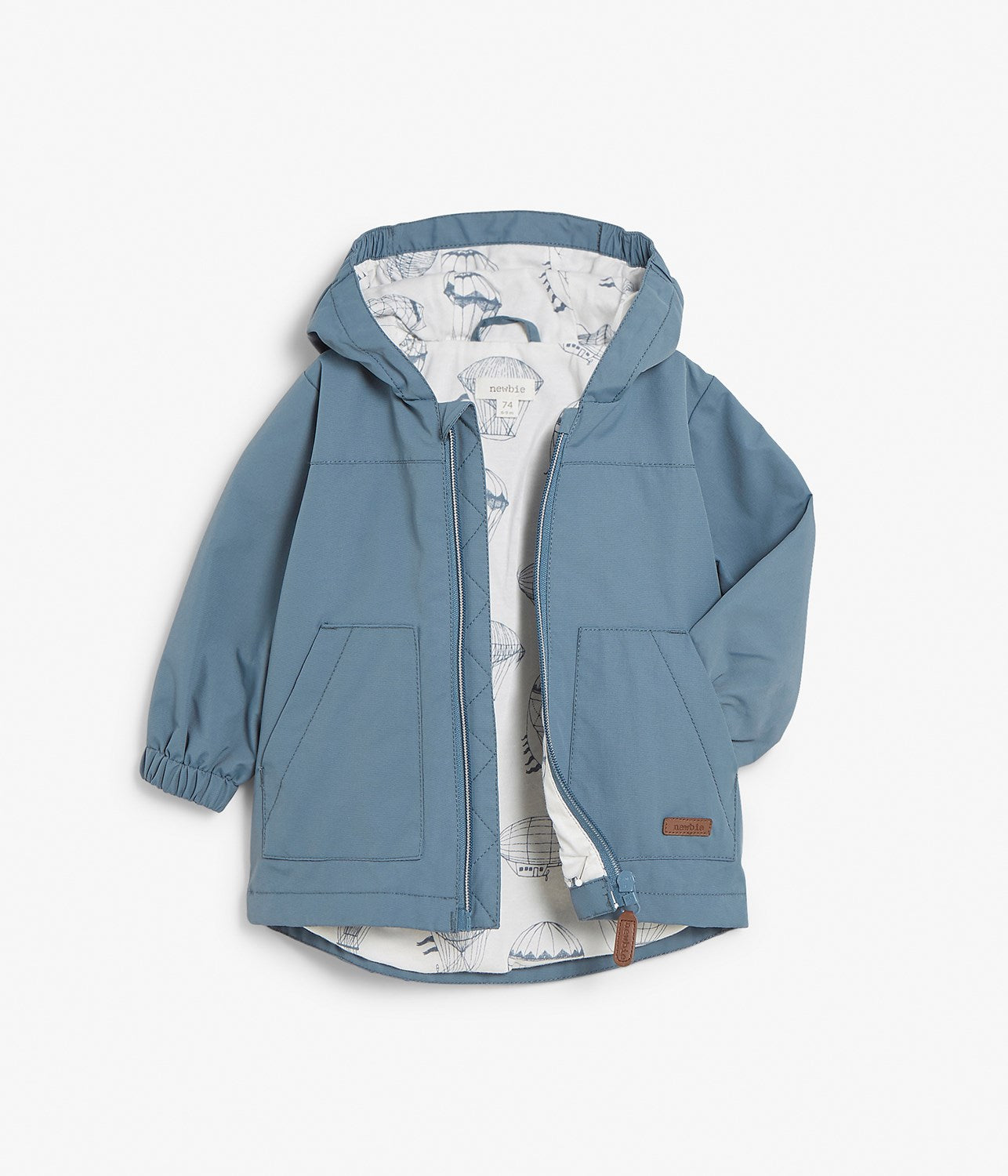 Baby blue water repellent jacket