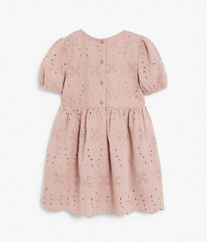 Kids pink pattern bridesmaid dress