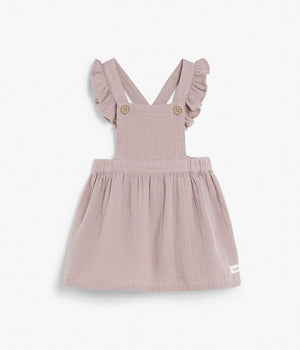 Kids purple dungarees dress