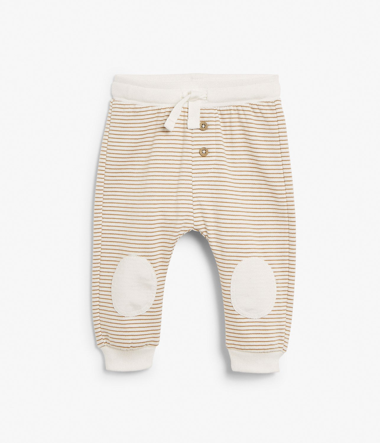 Baby brown striped jogging trousers