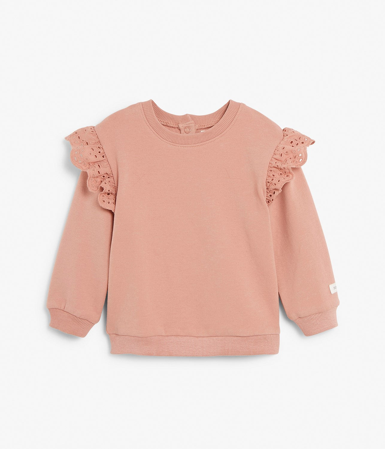 Baby pink sweater with frills