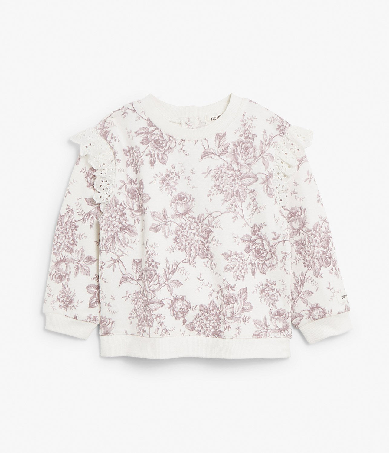 Baby floral print sweatshirt with frills