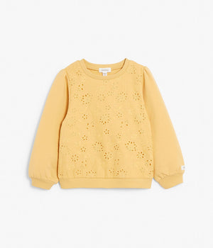 Kids yellow pattern sweatshirt
