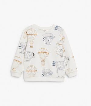 Kids white air balloon print sweatshirt
