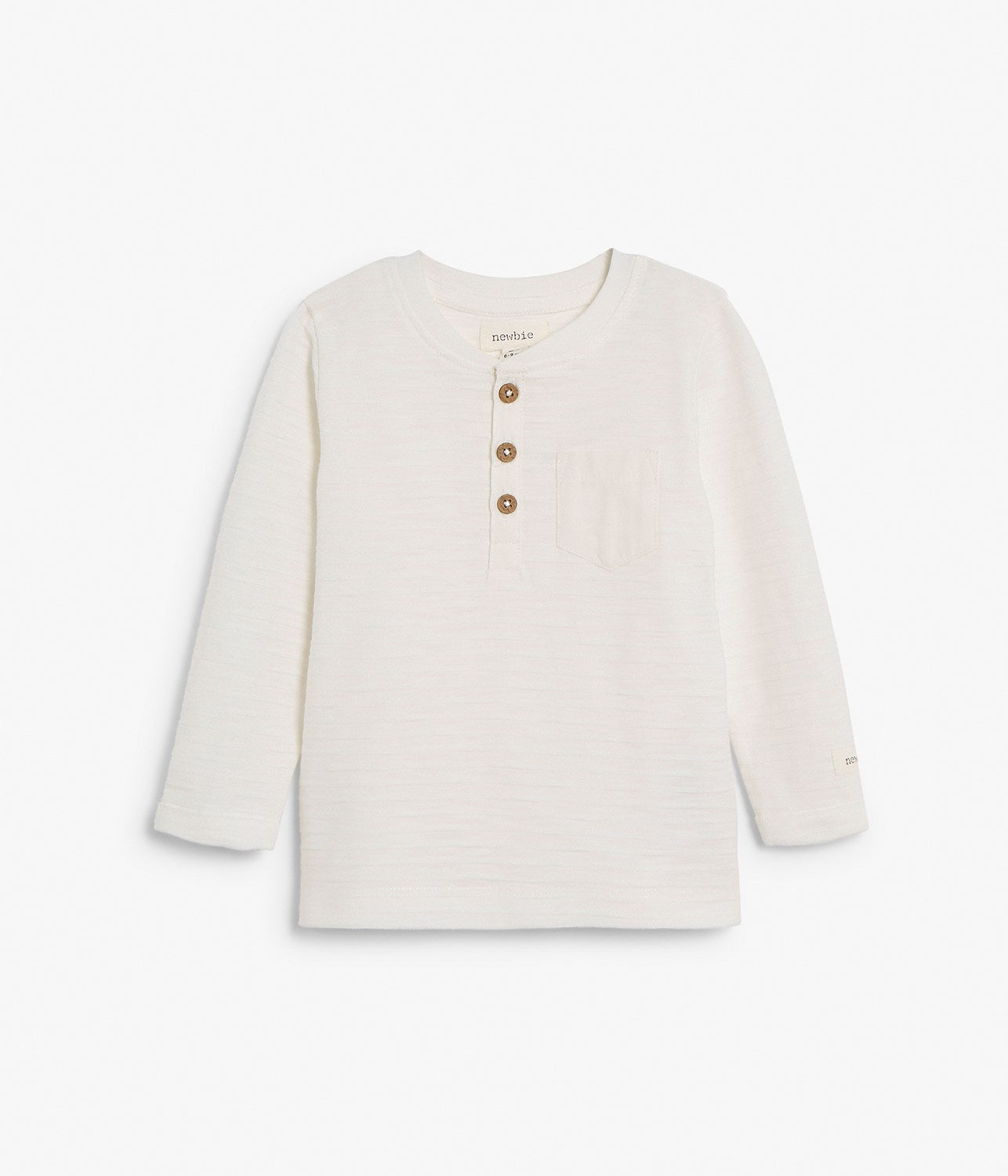 Baby white basic long sleeve top