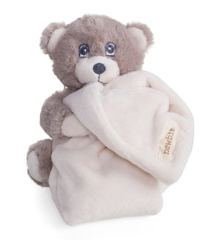 Baby blanket with attached soft toy