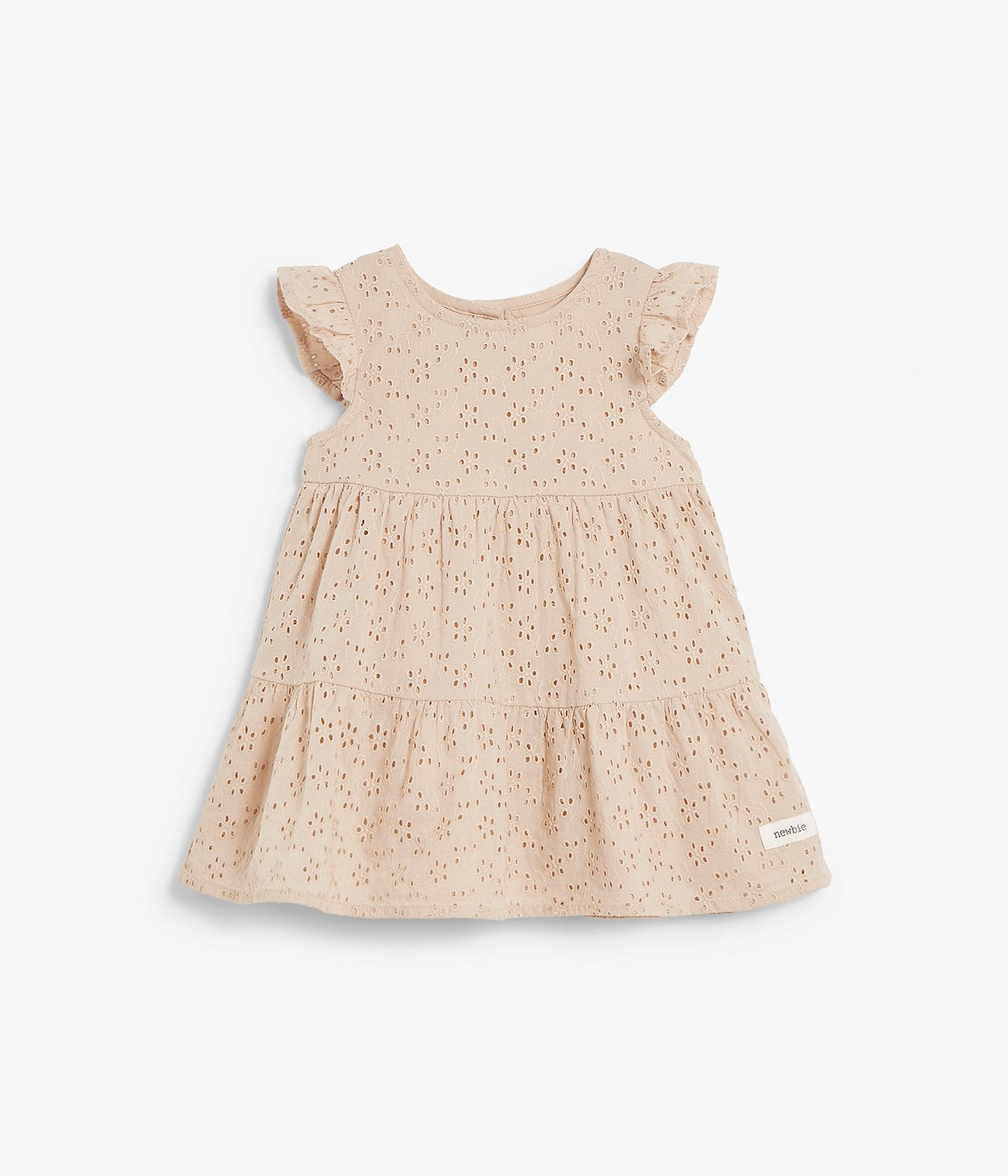 Baby light pink embroidery dress