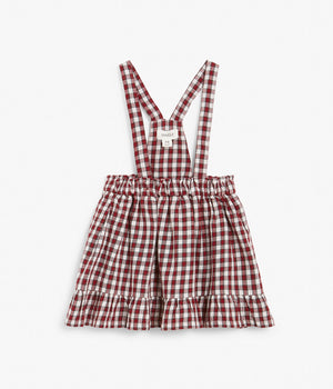 Baby red check pattern skirt