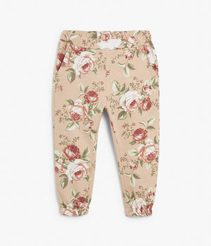 Kids pink floral jogging trousers