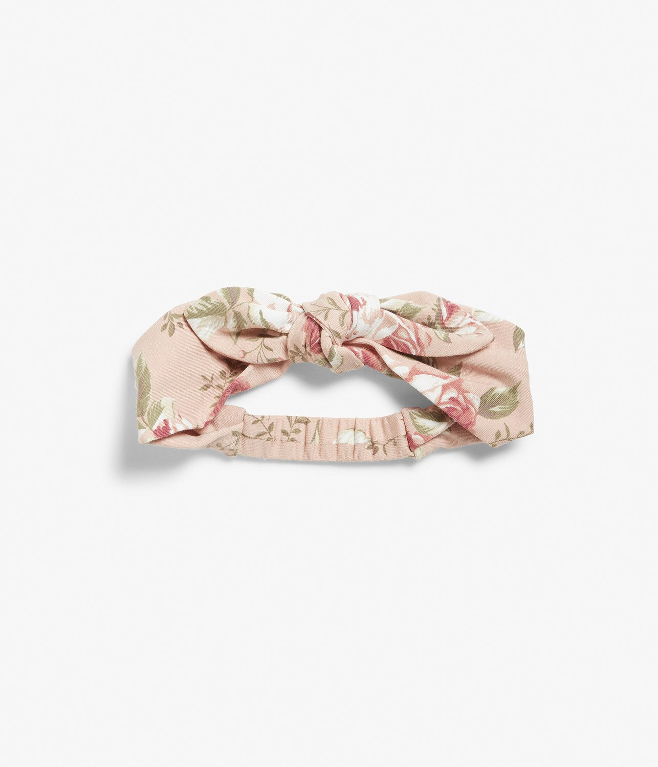Baby pink floral print headband