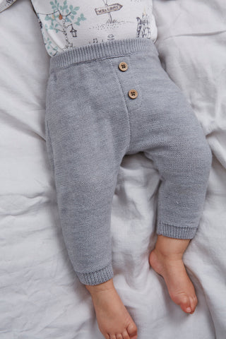 Baby knitted wool trousers