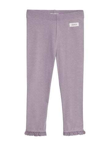 newbie kids Leggings organic cotton lilac