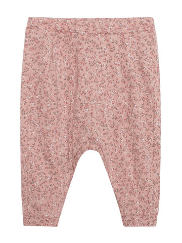 Baby sweatpants with floral print