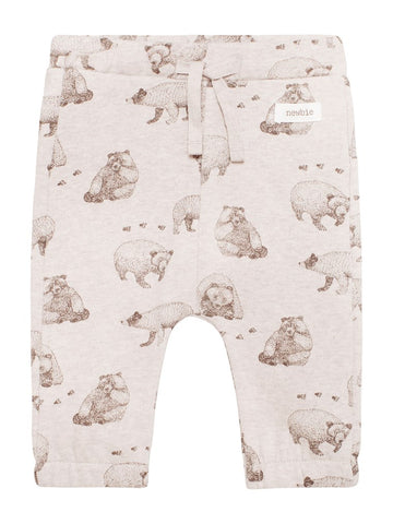 Baby trousers with bear print