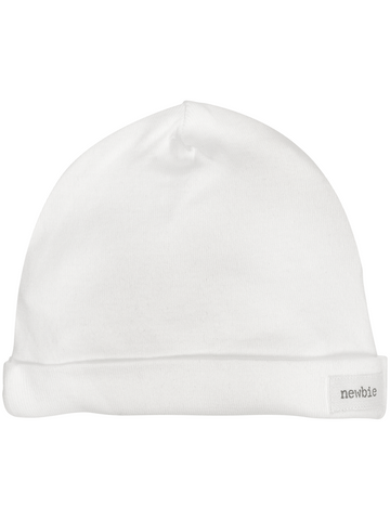 newbie kids hat white organic cotton