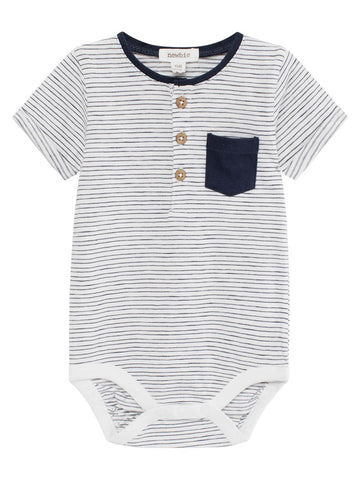 Baby body with stripes & pocket