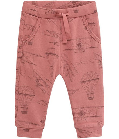 Baby trousers with plane print
