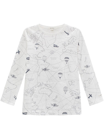 T-shirt with map print