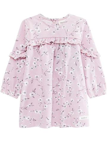 Baby dress with cherry blossom print