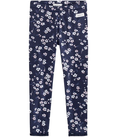 Leggings with cherry blossom print