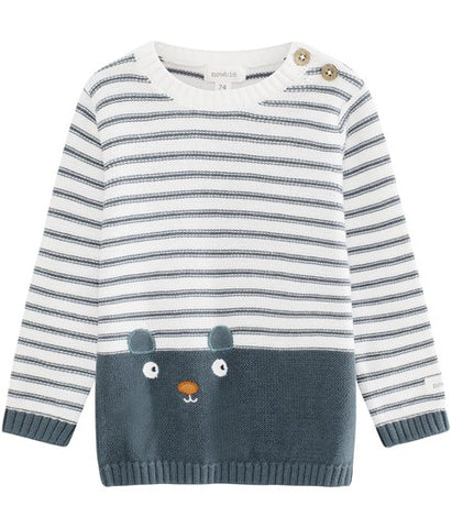 Baby jumper with animal face
