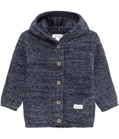 Baby hooded cardigan with pockets