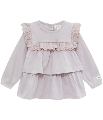 Baby top with lace frills