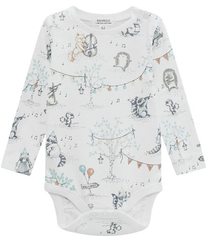 Baby body with musical animal print