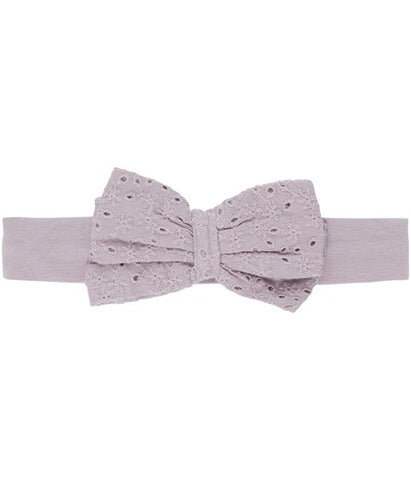 Headband with broderie bow